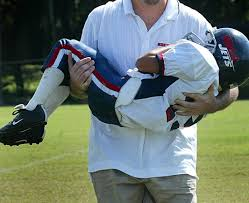 Child with football injury